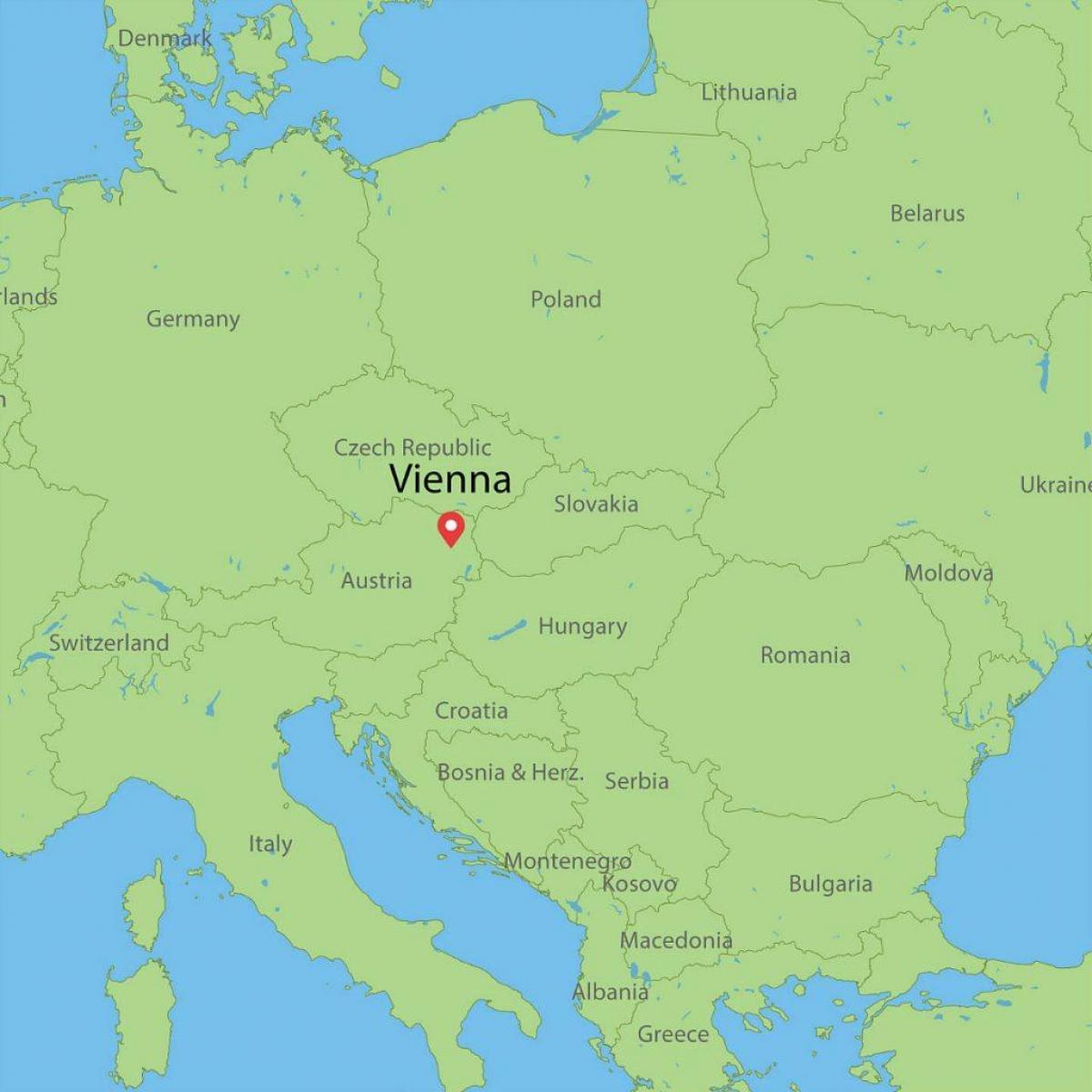 Wien Itavalta Kartta Wien Itavalta Maailman Kartta Lansi